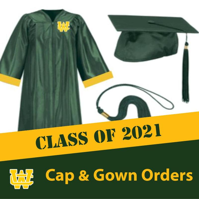 Click for WCHS Class of 2021 Cap & Gown Orders, Class Rings, and Letter Jackets Thumbnail Image