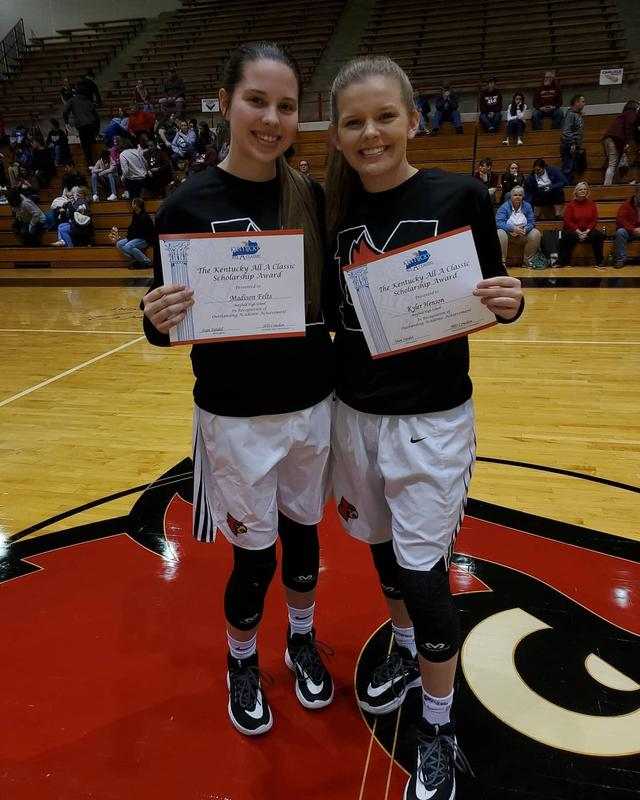 Congratulations to Kyler Henson and Madison Felts for being chosen for the Kentucky All A Scholarship Award.  They were recognized last night during the All A semifinals.