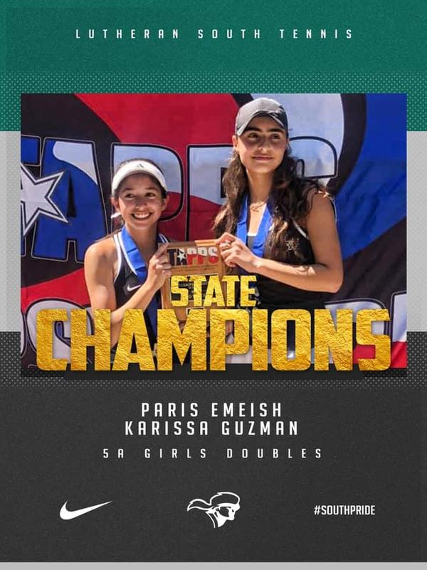 TAPPS 5A Girls Doubles State Champions!!! Thumbnail Image