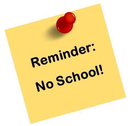 Reminder No School Featured Photo