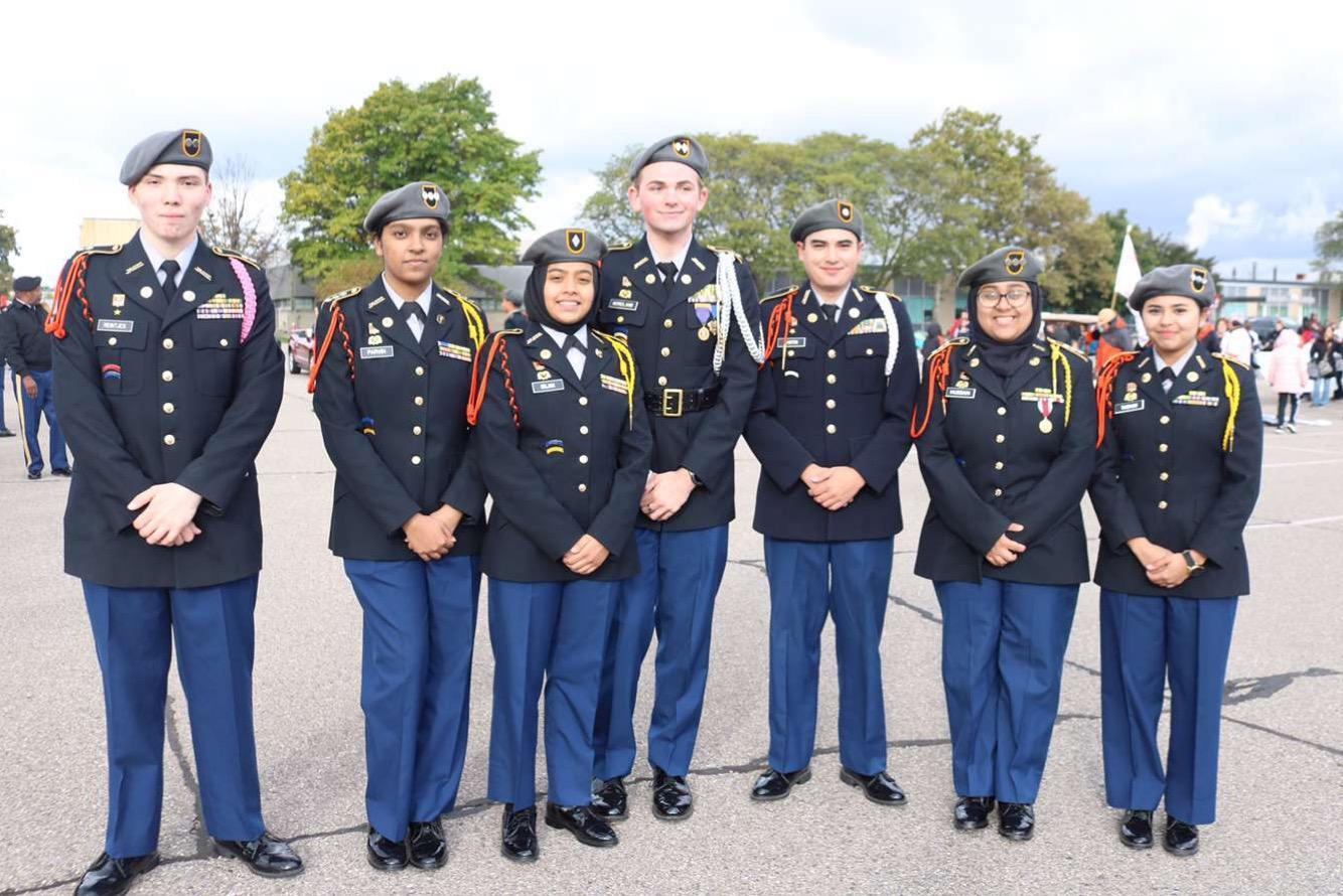 JROTC Staff during Homecoming parade