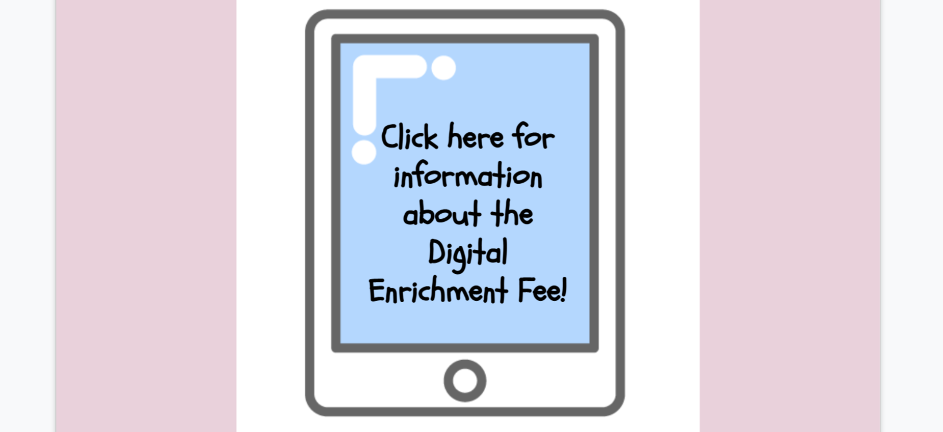 Click screen for more info about Digital Enrichment Fee