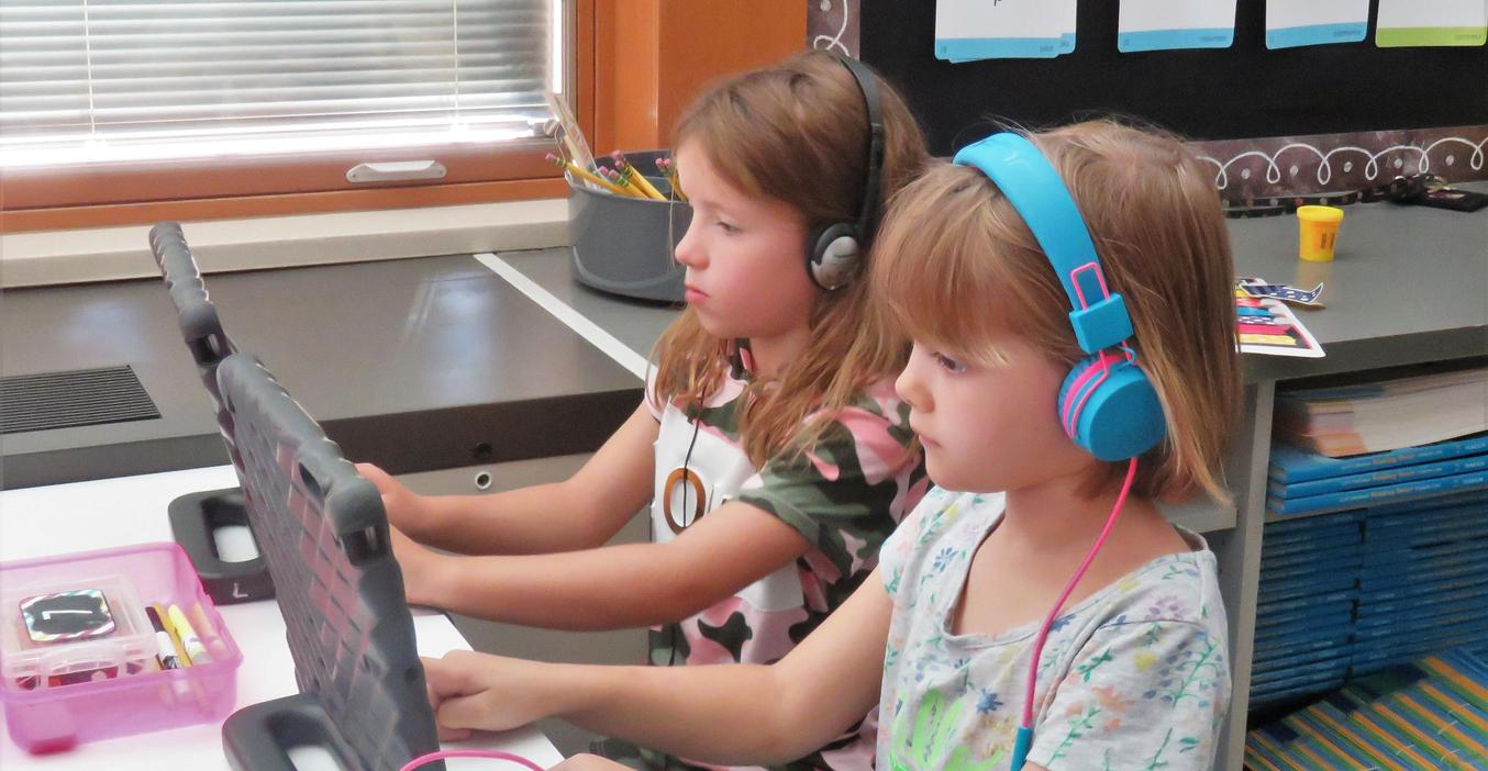 McFall students learn to use technology as part of their daily lessons.