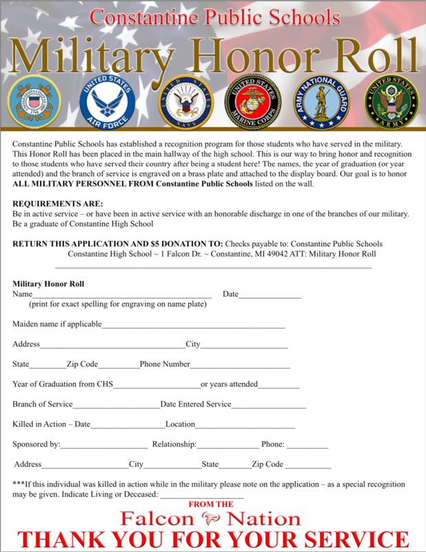 Military Honor Roll