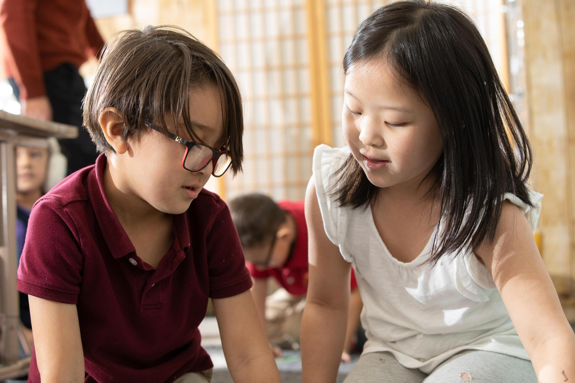 students in a kindergarten class