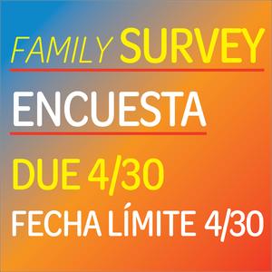 Family survey - encuesta