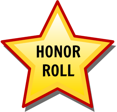 HONOR ROLL AND YELLOW STAR