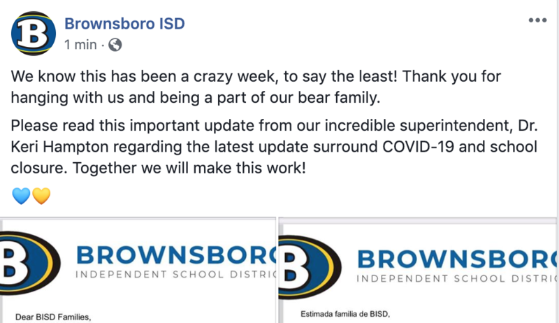 BISD moving to online March 23-April 3 Featured Photo
