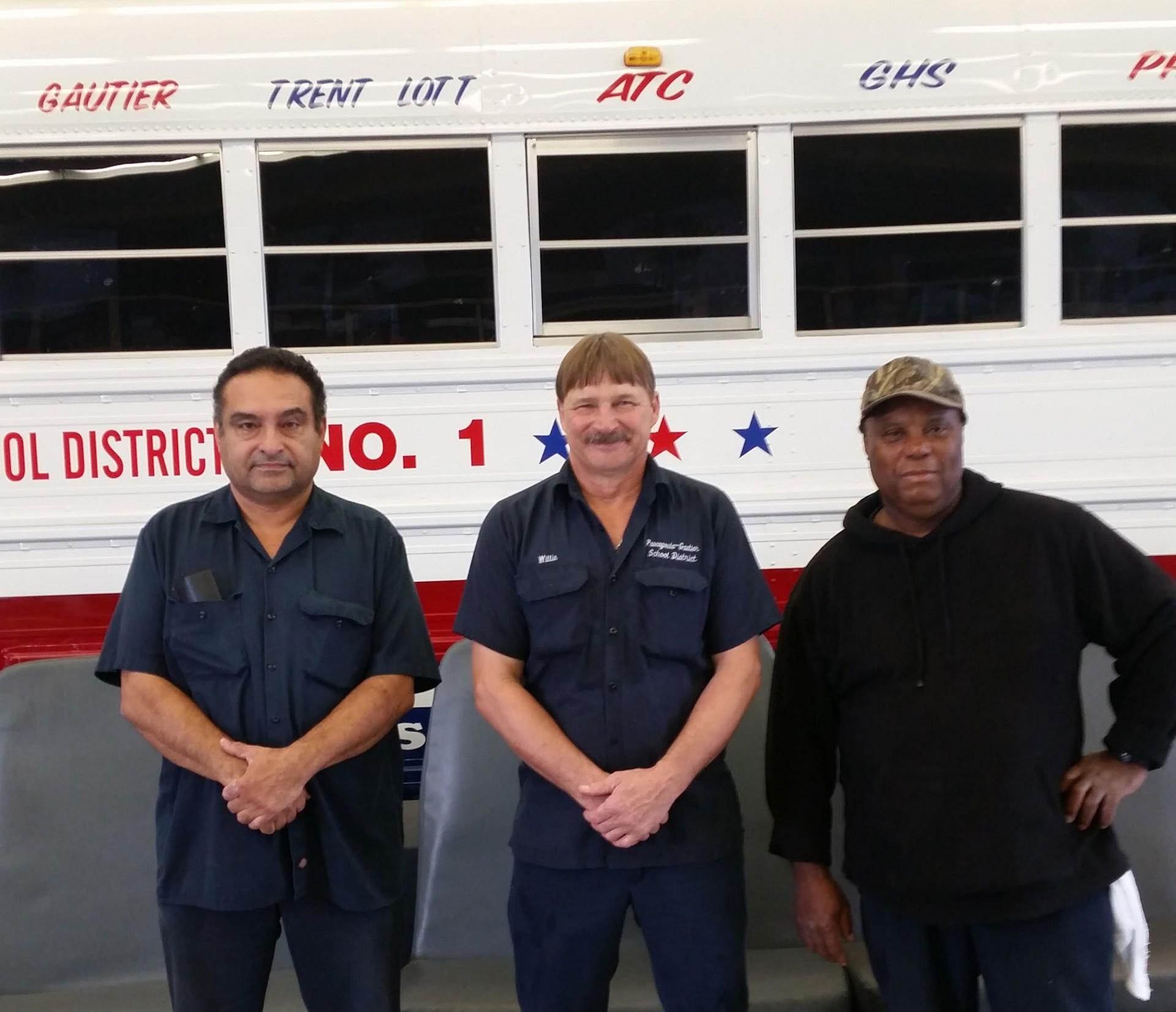 Luis Melendez, Willie Winters, and Ronnie Redfield, Pascagoula Mechanics