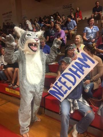 wildcat costume and sign