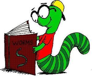 clip art of book worm