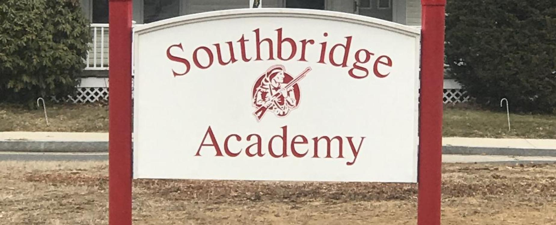 The Southbridge Academy sign outside the building