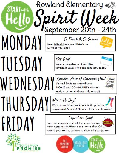 Start With Hello Spirit Week: September 20-24 Featured Photo