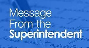 Message from the Superintendent Thumbnail Image