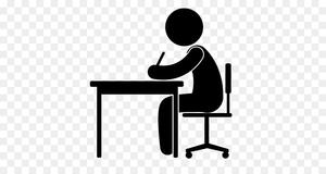 clip art/ student at desk