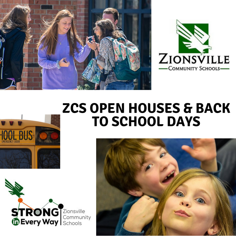 Open Houses & Back to School Days Thumbnail Image