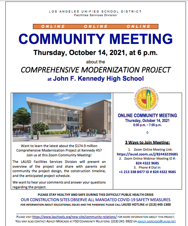 COMMUNITY MEETING Thursday, October 14, 2021, at 6 p.m. Featured Photo