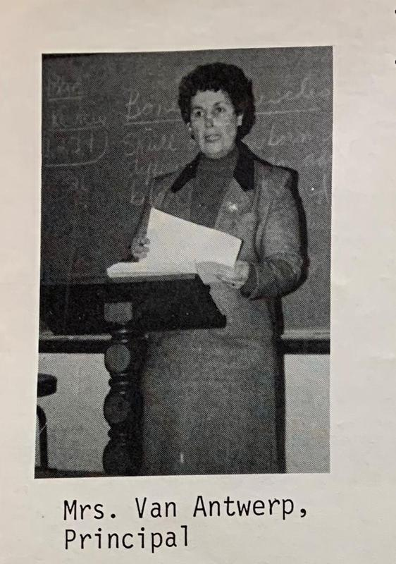 Mary Lou Van Antwerp served as our second School Principal from 1984-1987. Featured Photo