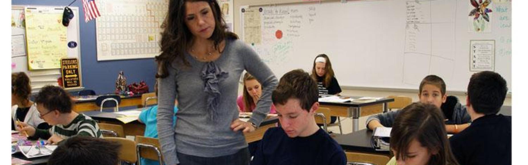 Teacher standing picture