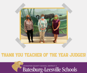 Lexington Three Thanks Teacher of the Year Judges