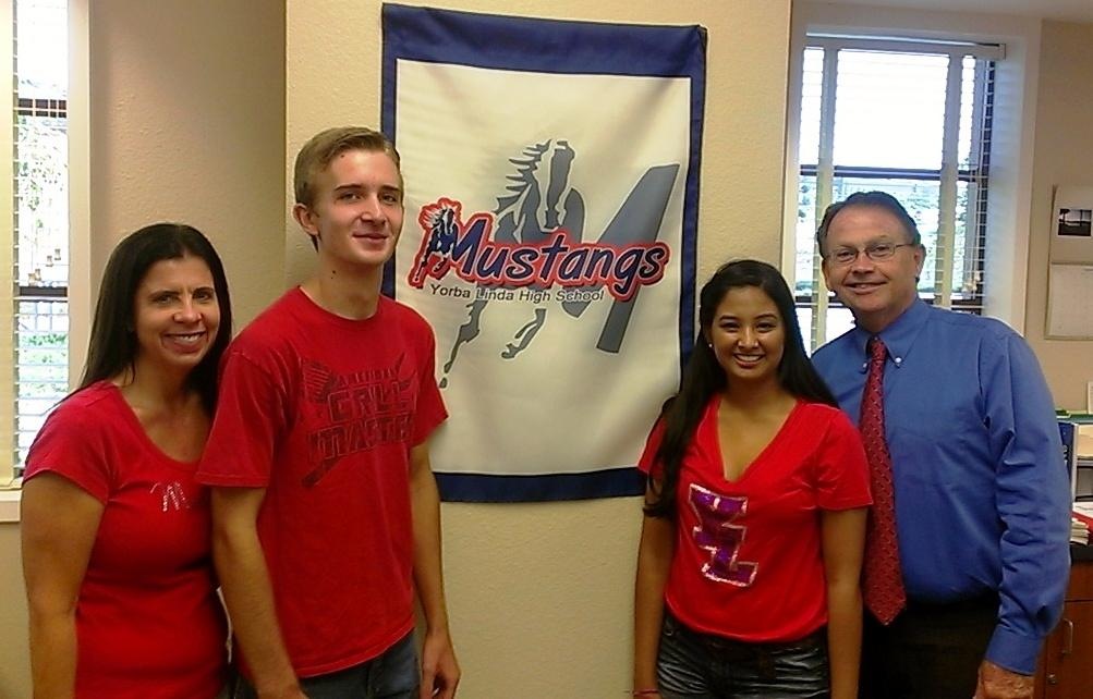 National Merit Semi-finalists with Principal Flynn