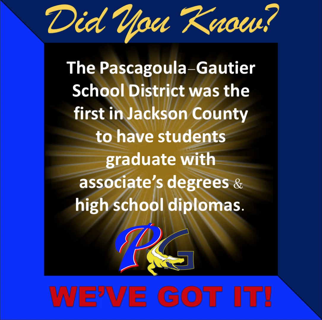 PGSD was the first in Jackson County to have students graduate with an associate's degree and high school diplomas
