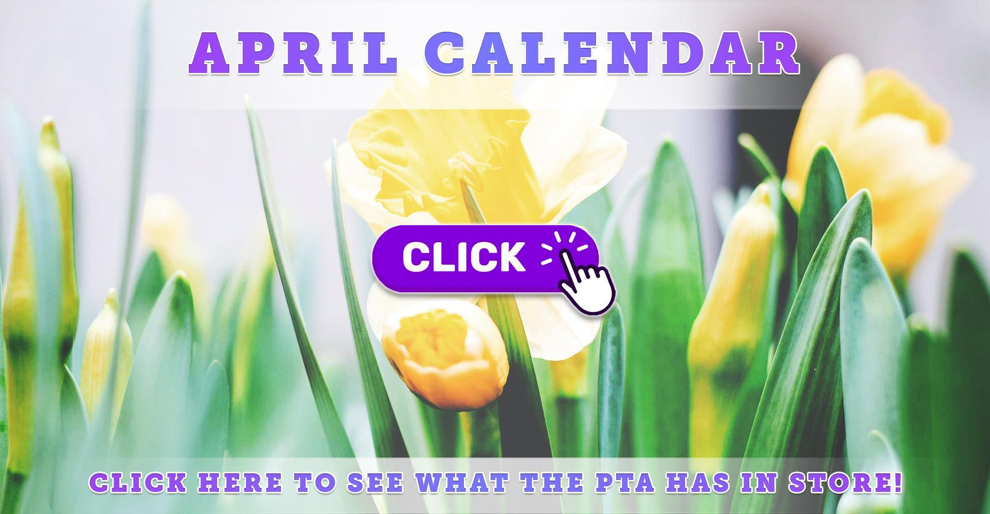 April 2021 Calendar of Events