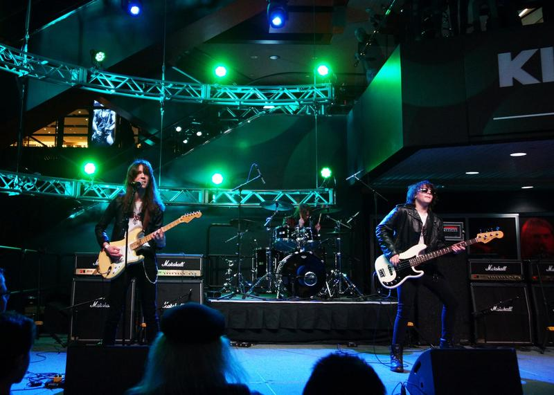 picture of student rock band performing
