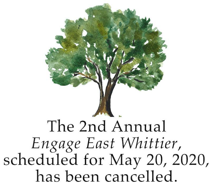 Banner stating Engage East Whittier has been cancelled.