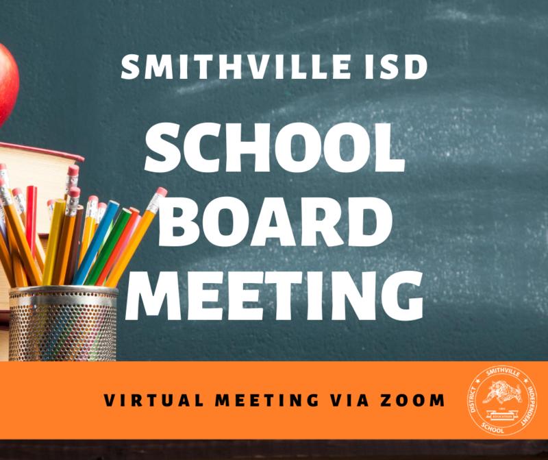 Special August School Board Meeting / Workshop