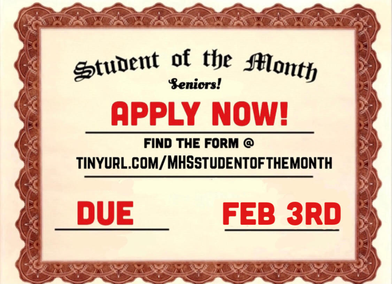 Student of the Month Applications Thumbnail Image
