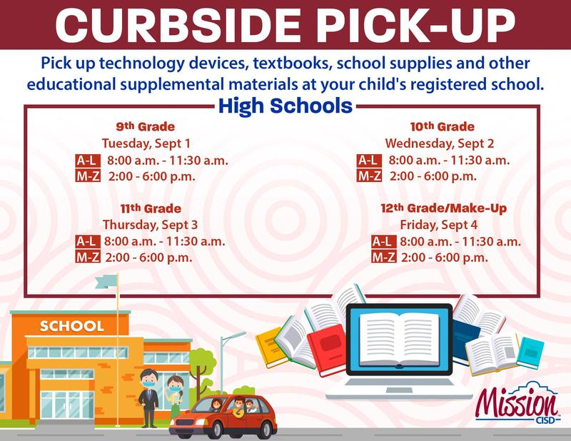Curbside Pickup Schedule - High School Featured Photo