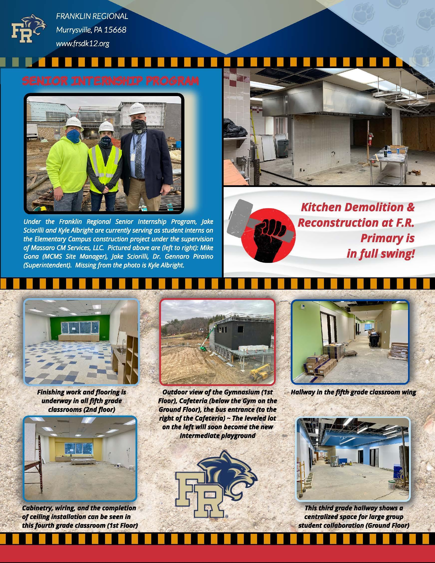 Paw Prints March Construction Update (Pg. 2)