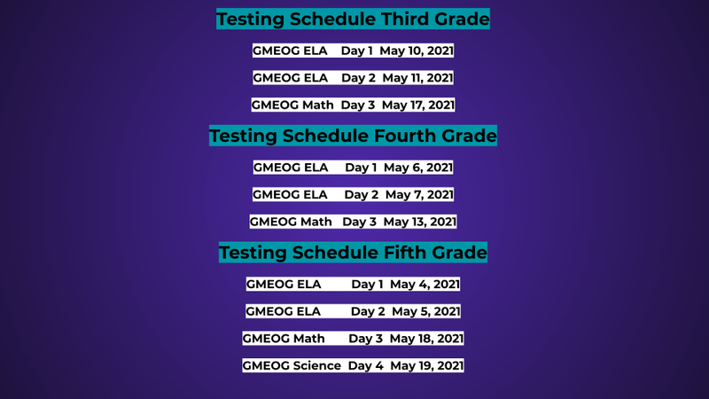 Testing Information and Schedule Featured Photo