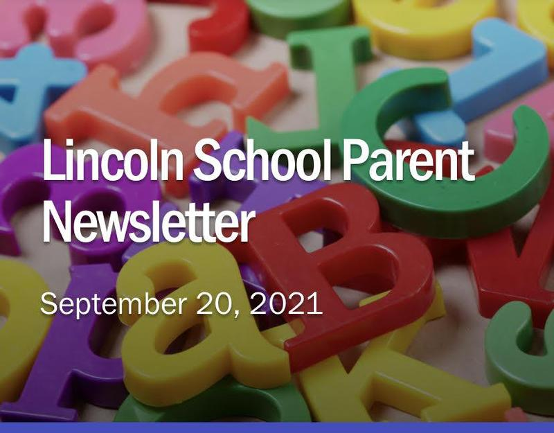 Lincoln Parent Newsletter - September 20, 2021 Featured Photo