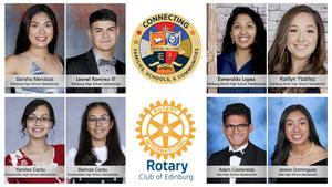Edinburg Rotary Club honors the class of 2020 valedictorians and salutatorians from Edinburg CISD.