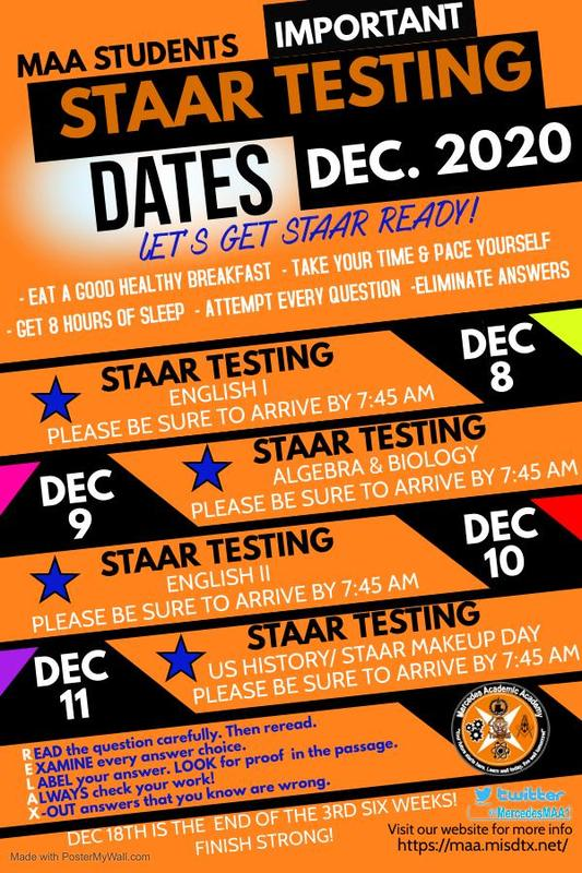 STAAR TESTING DATES Featured Photo