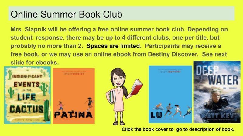 Summer Book Club Featured Photo