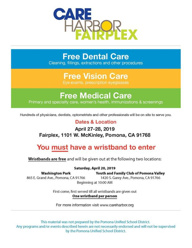 Care Harbor is planning its tenth free mega-clinic event, reaching out to the thousands of underserved individuals and families within our communities who are without access to the healthcare they need. The clinic will be held April 27-28, 2019 at the Fairplex in Pomona – our first free clinic to serve the Eastern Los Angeles and San Bernardino County communities.