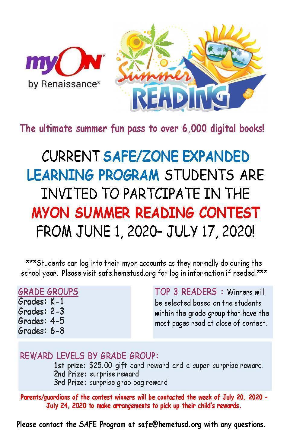 Summer Jam Reading Contest 2020