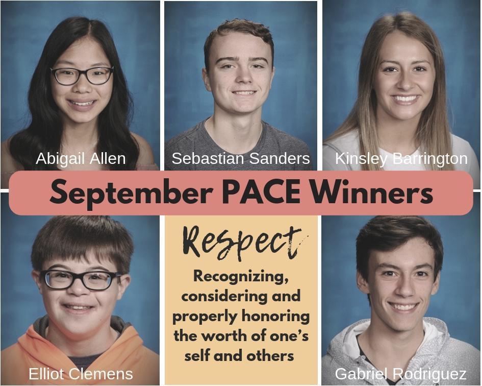 September PACE Winners