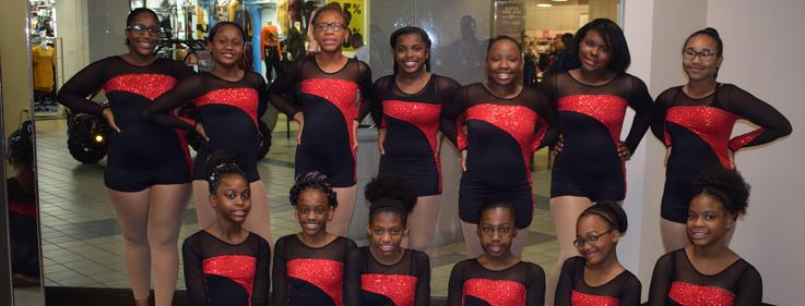 Higgins Dancers performs at Edgewood Mall