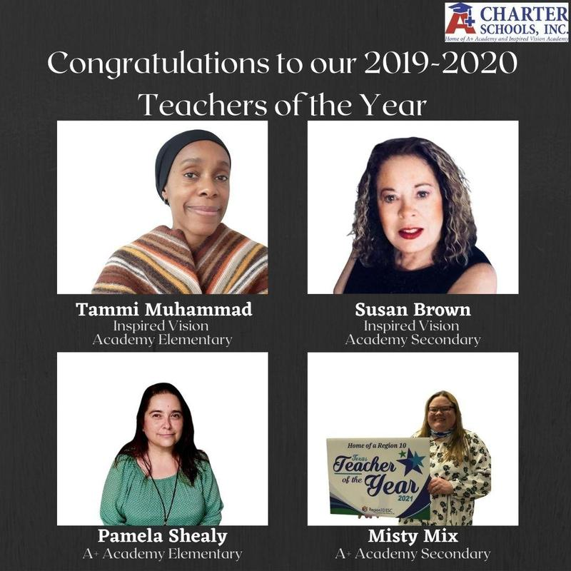 Congratulations to our 2019-2020 Teachers of the Year! Thumbnail Image