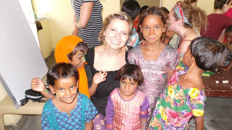 Teaching in the Elephant Village in India.