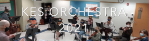 Students in orchestra class