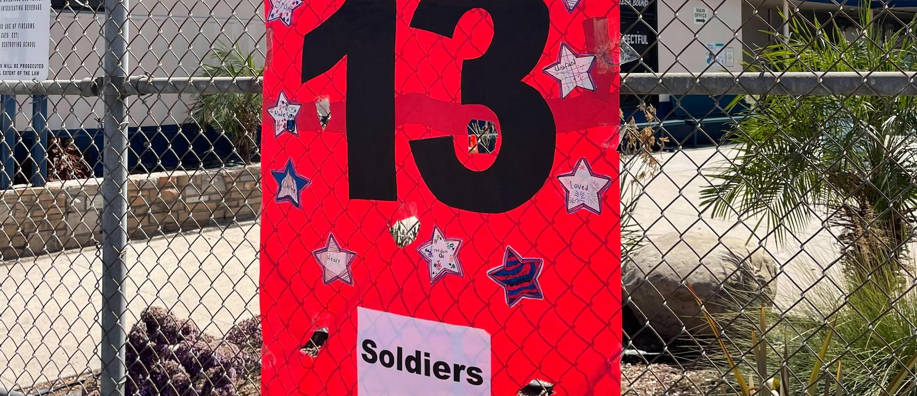 soldiers banner red