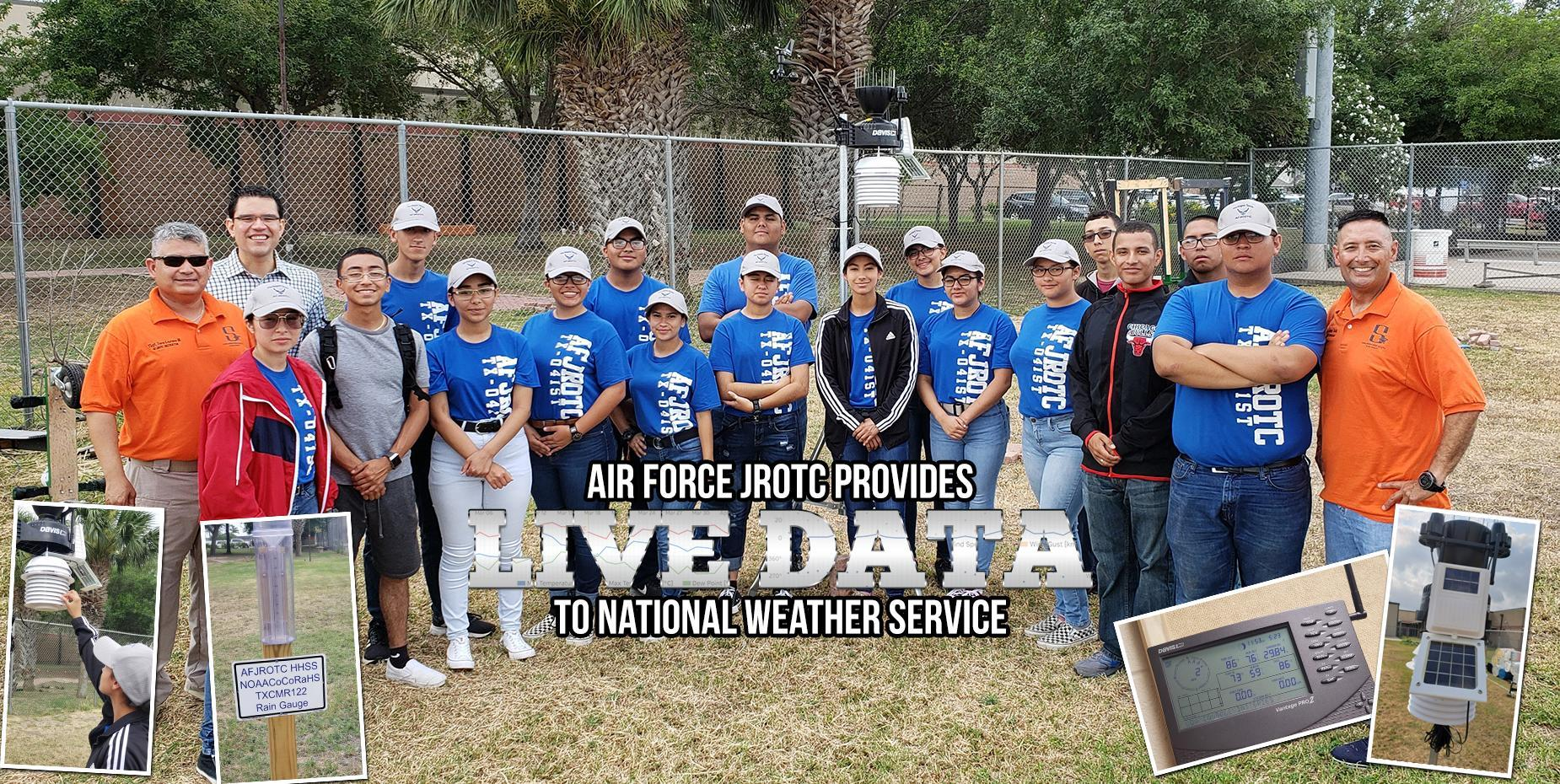 Air Force JROTC Provides Live Data to National Weather Service