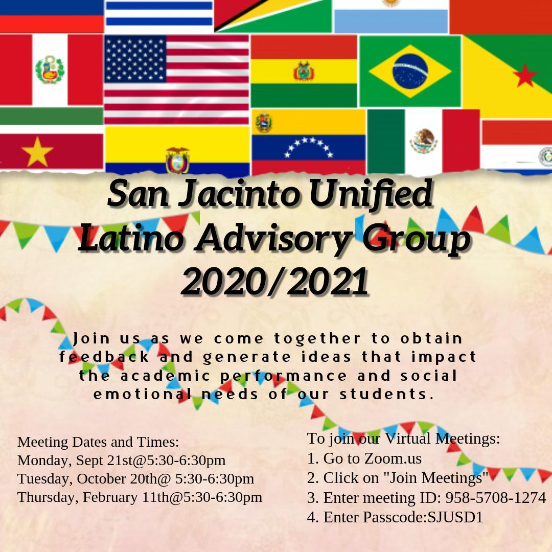 Flyer for Latino Parent Advisory Council