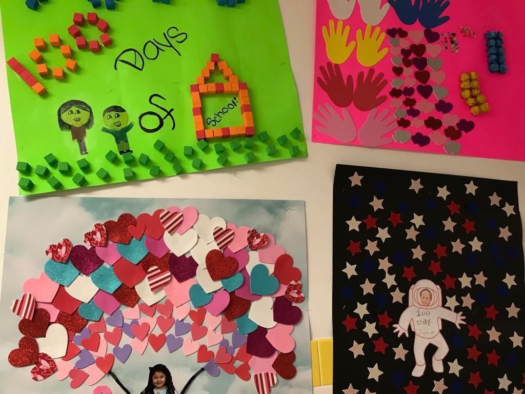 100 Days counting activity collage