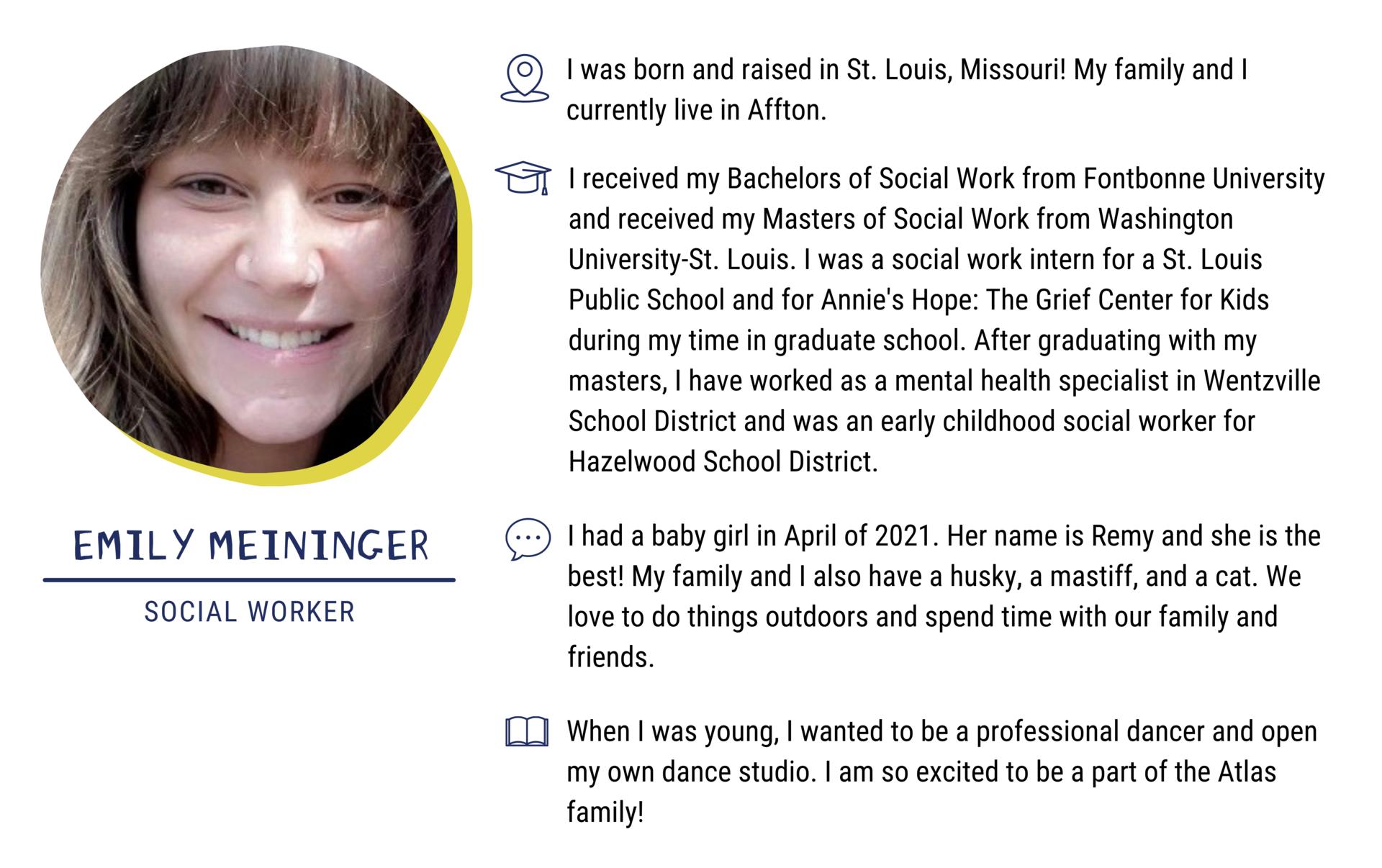 Emily Meininger, Social Worker